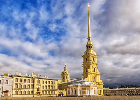 Peter and Paul Cathedral and Grand Ducal Burial Vault in St. Petersburg Editorial