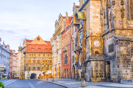 morning in Prague. Town Hall Square