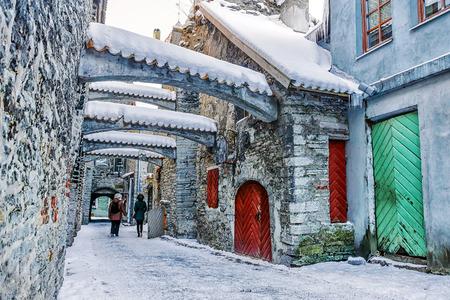 St. Catherines Passage in Tallinn.Estonia