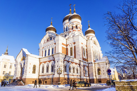 Alexander Nevsky Cathedral in Tallinn. winter view Stock Photo