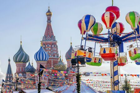 Christmas in Moscow. Christmas Fair on the red square.