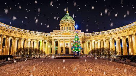 sobor: Christmas St. Petersburg. Kazan Cathedral