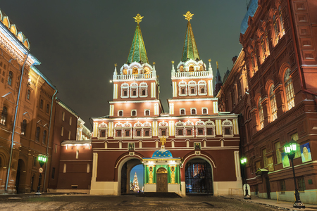 Gate Church on the Red Square. Russia