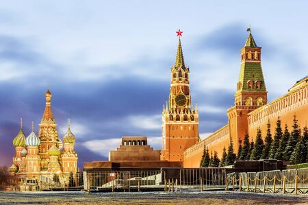 spasskaya: Red Square in Moscow, Russia