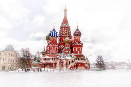 zicht op de St. Basil's Cathedral Moskou
