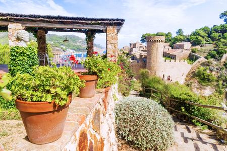 castle in Tossa de Mar, Spain