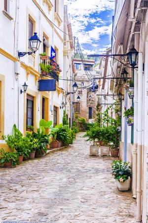 old streets of Tossa de Mar. Spain