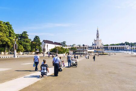 FATIMA, PORTUGAL-APRIL 8: Fatima - city in Portugal September 8, 2015. One of the centers of Christian pilgrimage thanks to the Virgin of the phenomenon in 1917