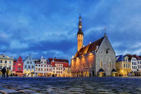 Stadhuisplein in Tallinn, Estland Stockfoto
