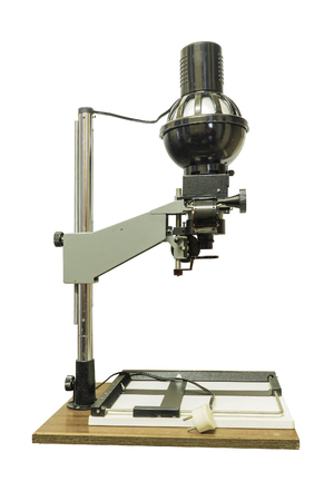 Old photographic enlarger Stok Fotoğraf - 79329528