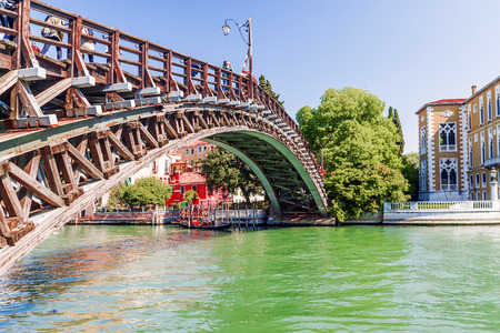 Bridge Academy in Venice.Italy Stock Photo