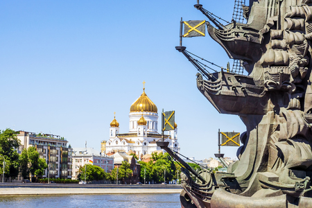 Temple of Christ the Savior in Moscow Stock Photo