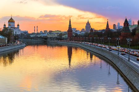 モスクワ クレムリンに沈む夕日
