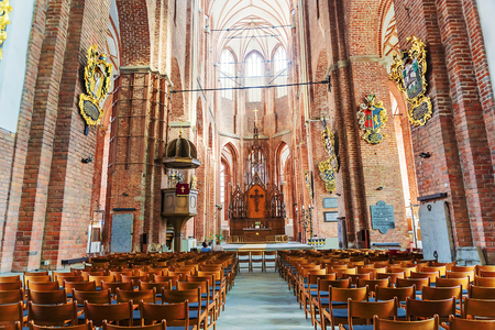 mentioned: Interior of the cathedral of St. Peter in Riga, Latvia.The oldest religious construction of the city, first mentioned in 1209. Editorial