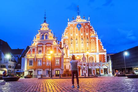 Town Hall Square in Riga, Latvia Editorial