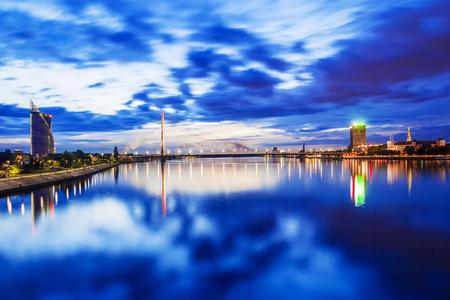 Night Riga, Latvia Stock Photo
