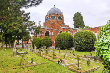 venice: Cemetery on the island of San Michele in Venice, Italy