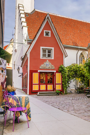 Old Tallinn streets, Estonia Stock Photo
