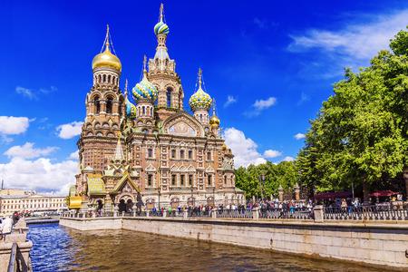 L'Église du Sauveur sur le Sang à Saint-Pétersbourg Banque d'images