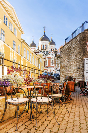 Streets of old Tallinn, Estonia