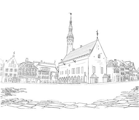 Stadhuisplein in Tallinn