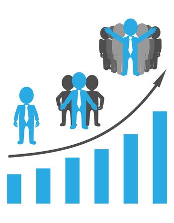 チームワークは、成功へのパスです。チーム ビルディング。  イラスト・ベクター素材