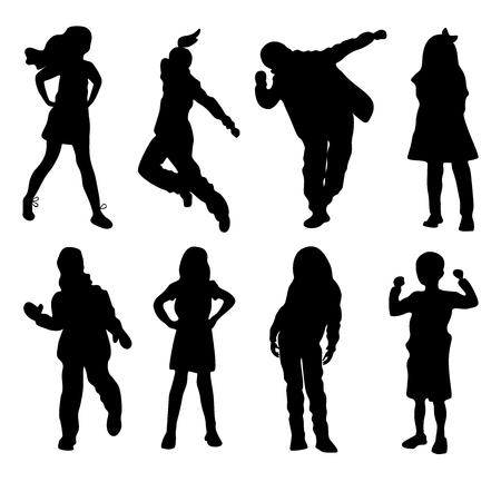 Kinder Silhouetten Standard-Bild - 85898640