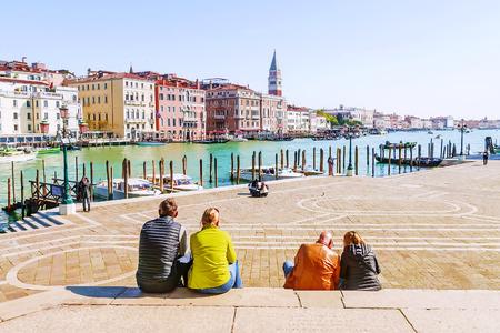 Embankment in Venetië, Italië Stockfoto