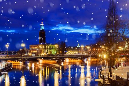 night in Stockholm, Sweden Stock Photo