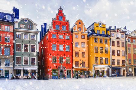 Kerstmis in Stockholm. Stockholm, Zweden