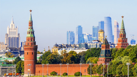 panorama of Moscow, Russia