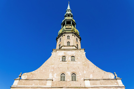 bell tower of Peter in Riga, Latvia