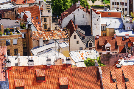 old roofs in Riga, Latvia