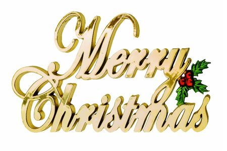 the inscription in golden letters: Merry Christmas