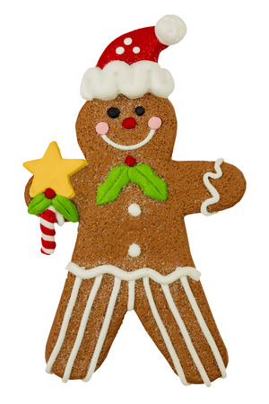 Christmas Gingerbread Man Stock Photo