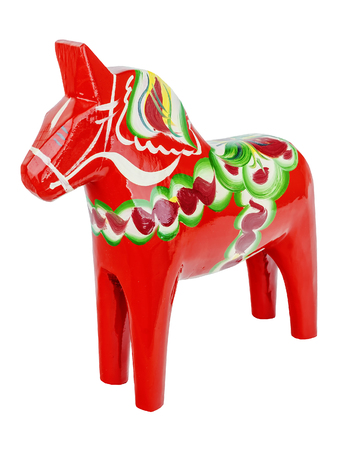 Horse - Swedish souvenir on isolated background