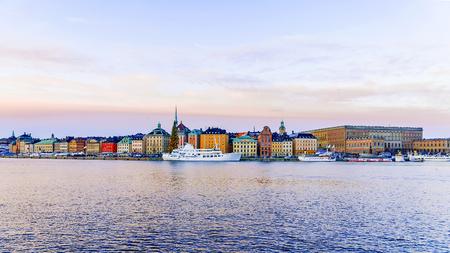 겨울, 스웨덴 스톡홀름의 아침보기 스톡 콘텐츠