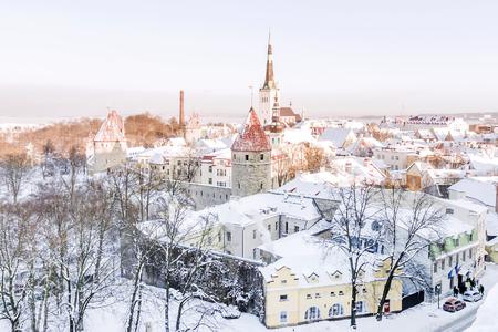 panorama of winter Tallinn, Estonia