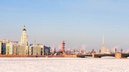 winter panorama St. Petersburg, Russia