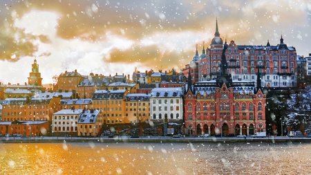 winter morning in Stockholm, Sweden