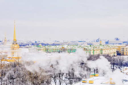 winter view of St. Petersburg, Russia