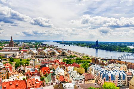 panorama of Riga, Latvia