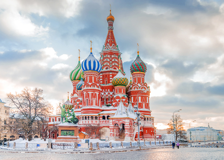 St. Basil's Cathedral. Moscow, Russia 스톡 콘텐츠