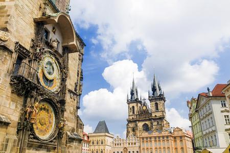 Astronomical clock in Prague. Czech Republic