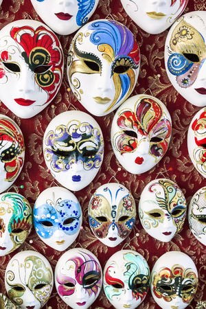 Traditional Venetian mask in a shop on the street in Venice. Venetian mask Italy Stock Photo
