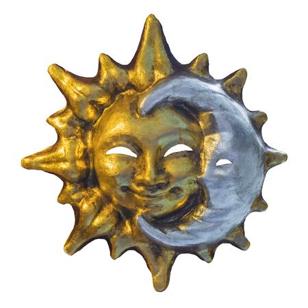 Venetian mask sun and moon