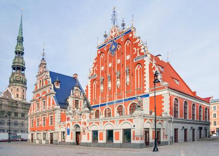 Riga, Latvia. Blackheads House at Town Hall Square in Riga