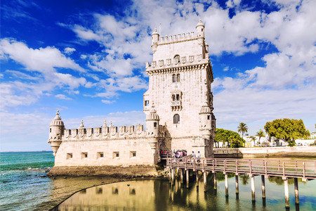 The Tower of Belem in Lisbon, Portugal
