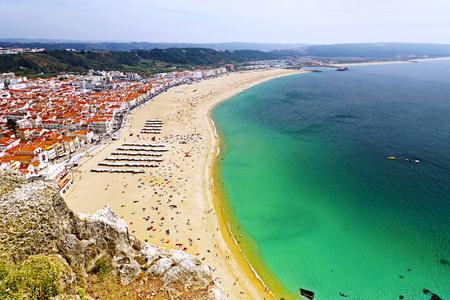 Beach Nazare in Portugal