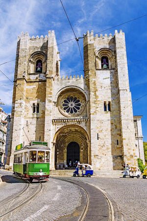 Lisbon Cathedral in Lisbon, Portugal 免版税图像